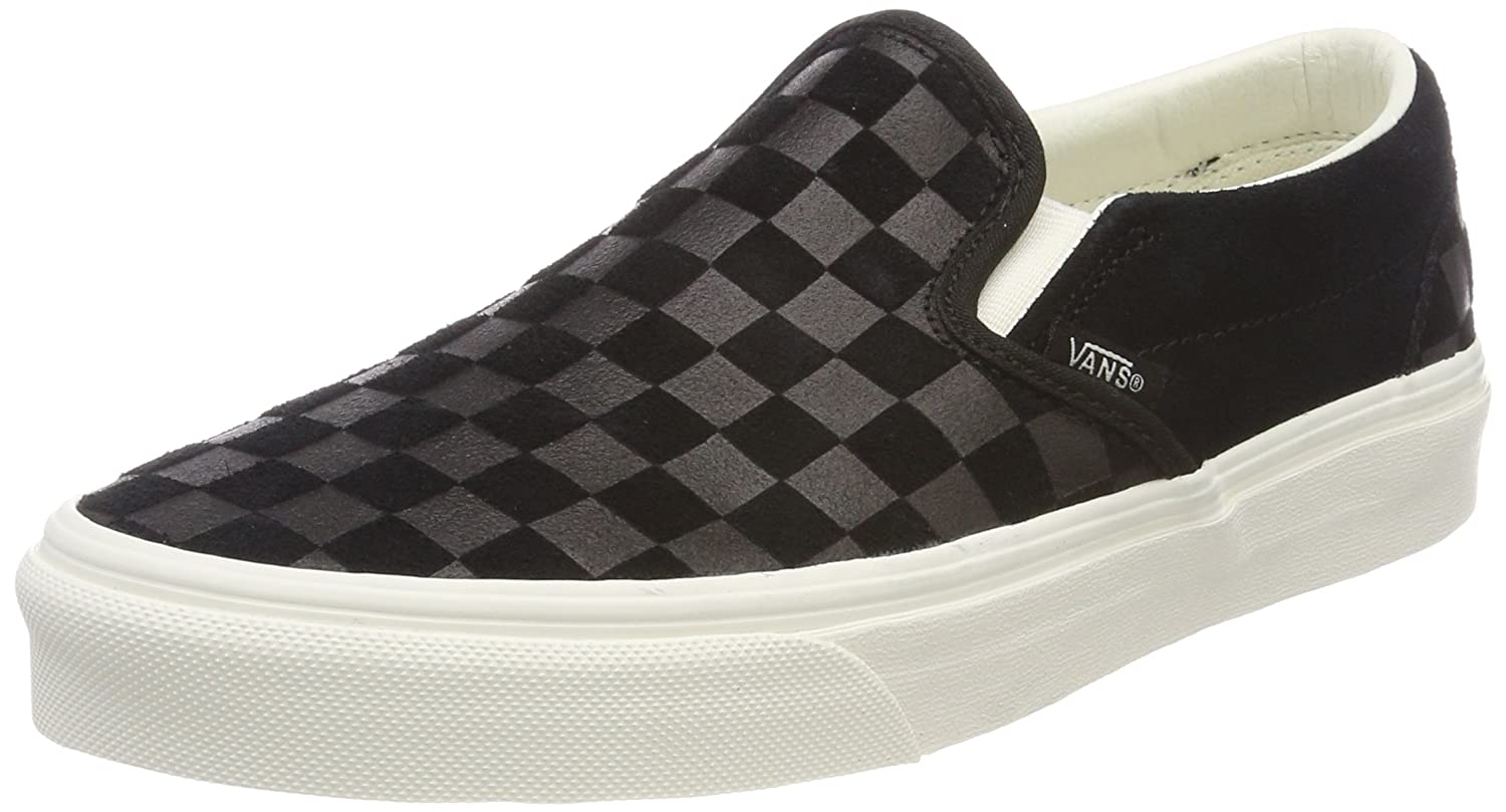Vans Unisex Classic (Checkerboard) Slip-On Skate Shoe B074HGFRH6 6.5 Women / 5 Men M US|(Checker Emboss) Black/Marshmallow