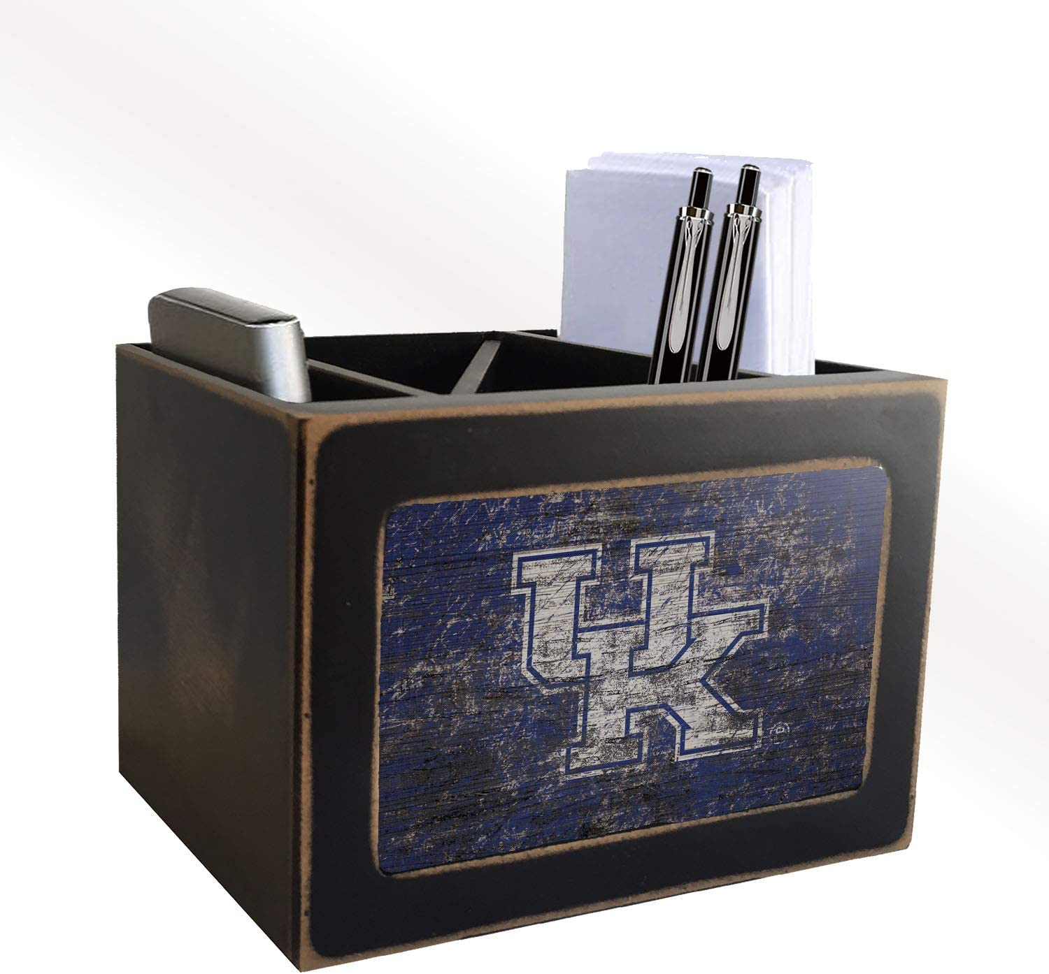 Fan Creations NCAA Kentucky Wildcats Distressed Team Logo Desktop Organizer with Color