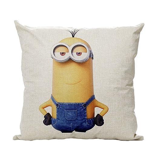 heyfair decorativa Minions Manta fundas de almohada de lino ...