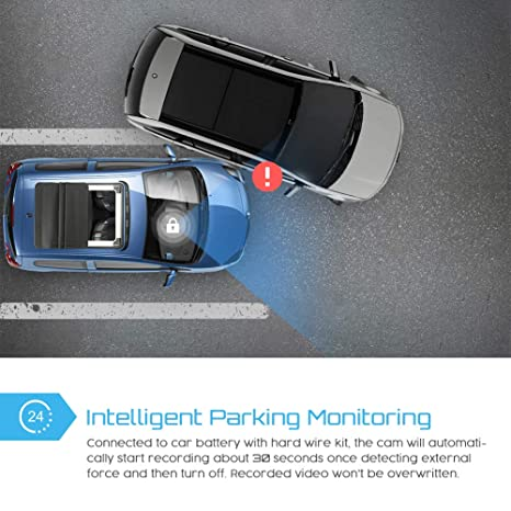 Crosstour Dashcam Lente Dobles GPS Incorporado Cámara de Coche 1080P Frontal 720P Interior Monitoreo de Estacionamiento, Detección de Movimiento Sensor G y ...