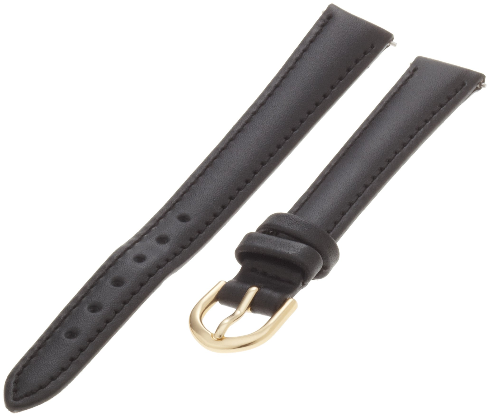Timex Women's 12mm Leather Watch Strap, Color:Black (Model: Q7B786GZ)
