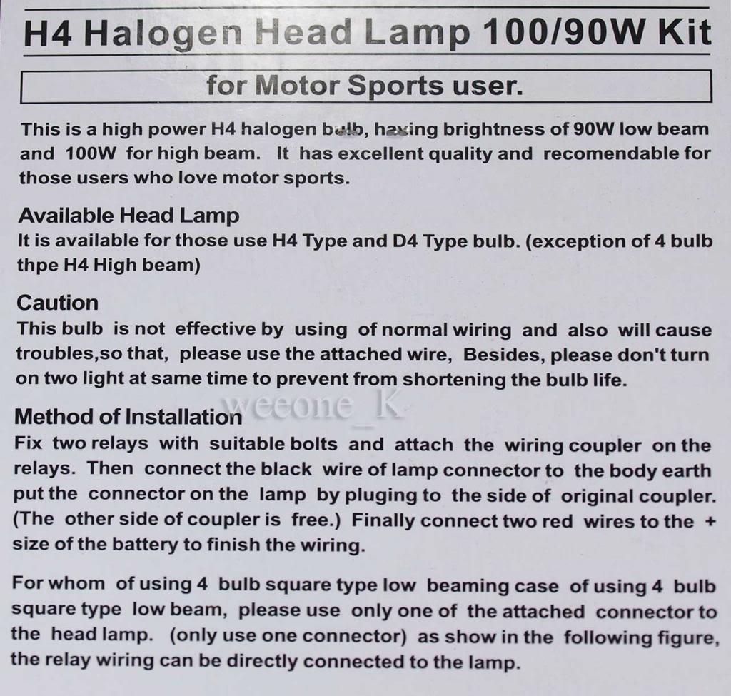 Amazon.com: H4 9003 Harness Relay Halogen Headlight Lamp Booster ...
