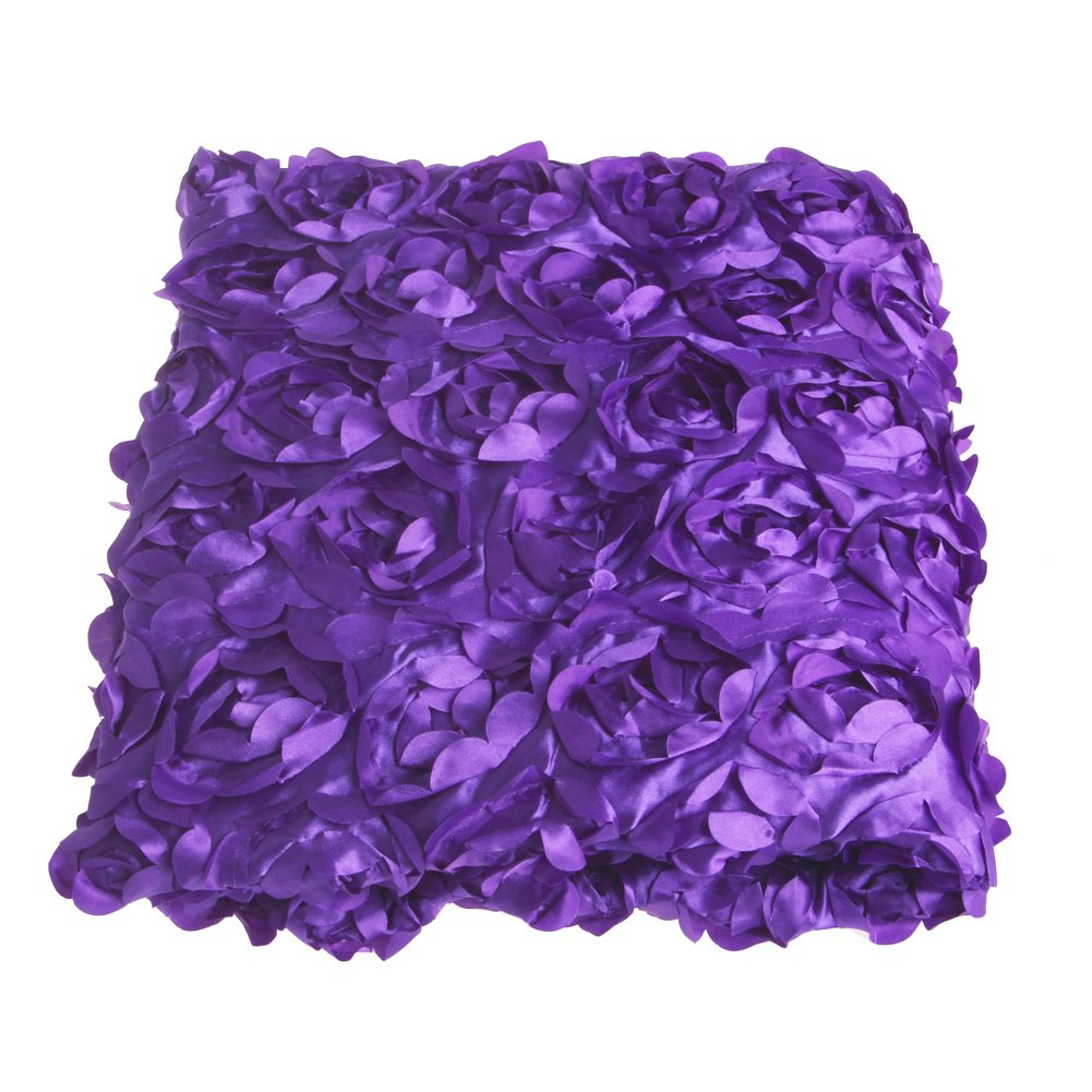 Wedding Carpet,OHTOP 78.74''x 39.4'' 3D Fiber Anti-slip Rose Flower Wedding Stage Floor Long Carpet Aisle Runner Mats Rugs(Purple)