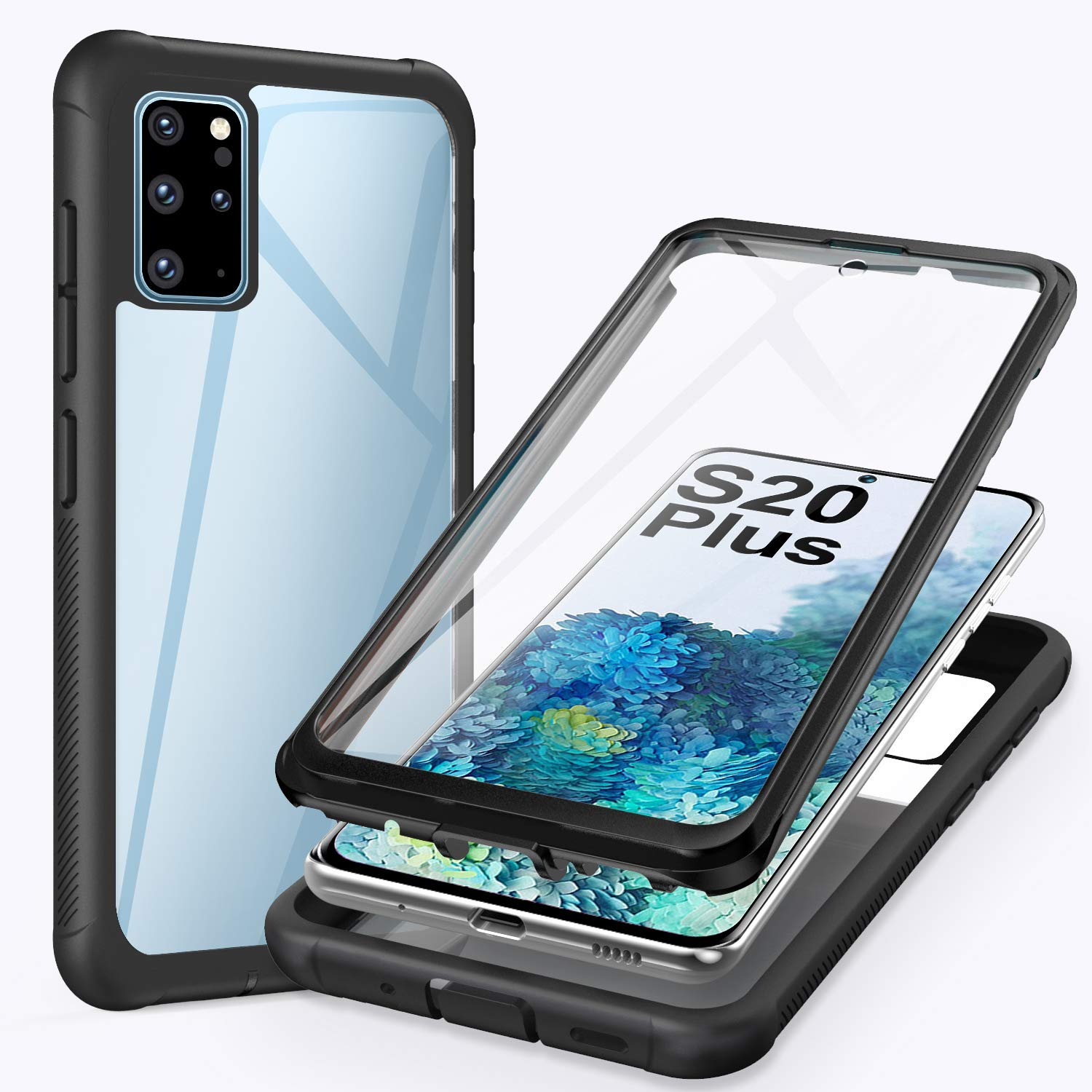 ivencase for Samsung Galaxy S20 Plus Case, 360 Degree Full Body Protection Cover with Built-in Screen Protector Front and Back Bumper Shockproof Non Slip Case for Samsung S20 Plus/s20+ 6.7'' 4G/5G