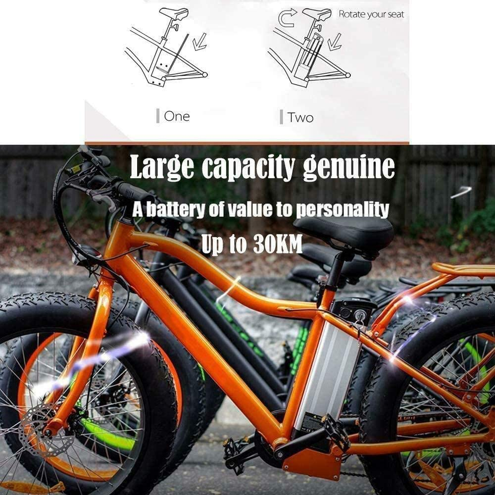JXSC E-Bike Battery Lithium Li-ion Battery 48V10.4AH//12AH//15AH//18AH Li-ion Battery for E-Bike Electric Bike Bicycle Lockable Rechargeable with Charger