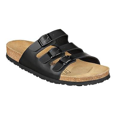 JOE N JOYCE Damen Paris Synsoft Soft Fußbett Sandalen Black Größe 40 EU Schmal smnXq39