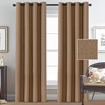 Linen Curtain Panels Linen Blackout Curtains 96 Inches Room Darkening Curtains For Bedroom Textured Rich Linen Curtains For Living Room Primitive