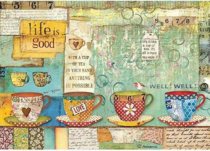 Scrapbooking Tea Time Cup 2 Rice Decoupage Paper Decoupage Sheets