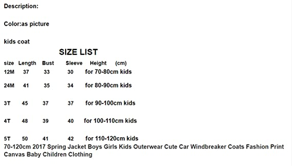 515578fdc4ab Amazon.com  Spring Jacket Boys Girls Kids Outerwear Cute Car ...