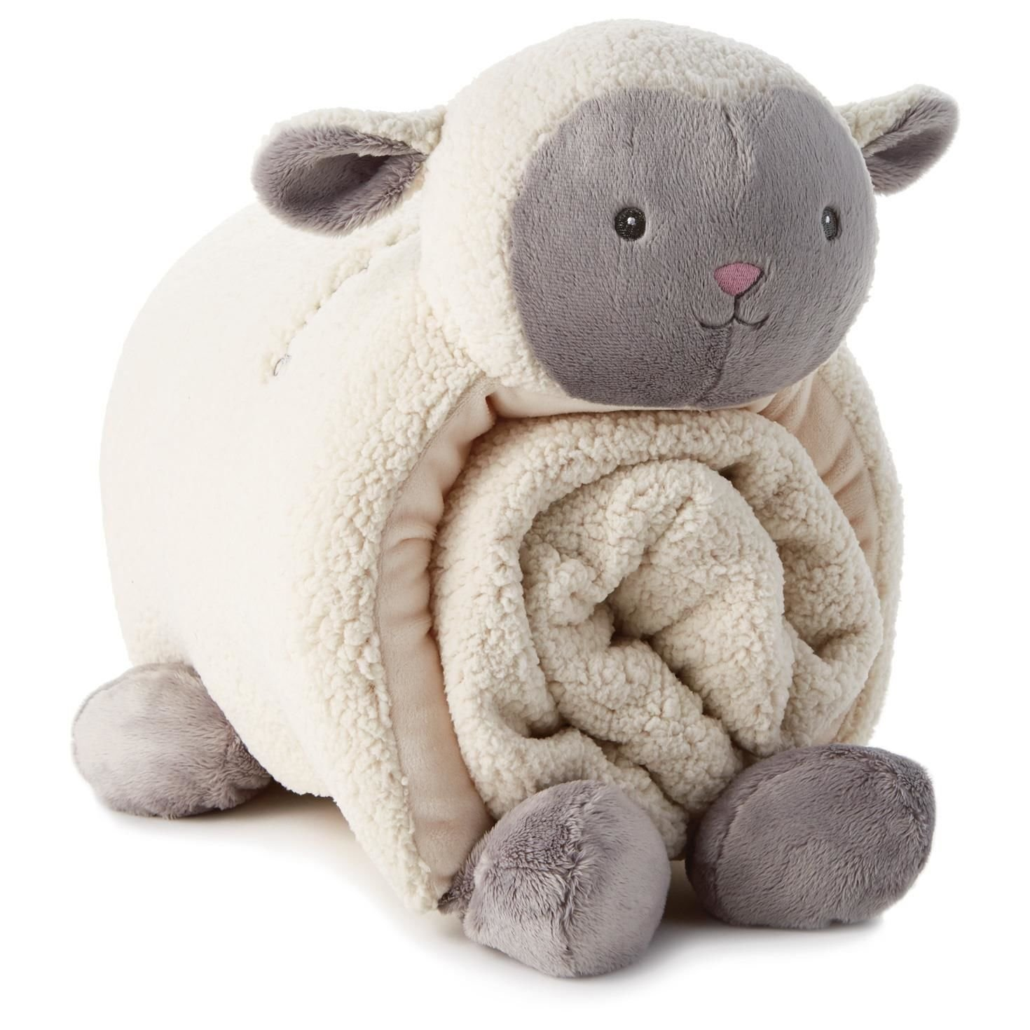 Hallmark Lamb Pillow and Blanket Set