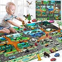 Chainscroll Kids Map Taffic Animal Play Mat Baby Road Carpet Decoración para el hogar Juguete educativo Juguetes para…