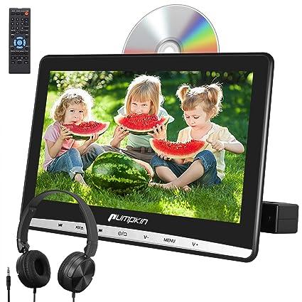 AUX PUMPKIN SD/ 車載 CPRM対応 10.1インチ dvd AV-OUT レジューム機能 USB/ リージョンフリー ヘッドレストモニター dvdプレーヤー AV-IN/ 18ヶ月保障 スロットイン式