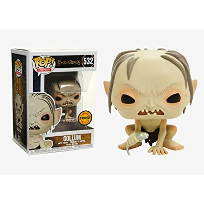 "FunKo POP! Movies Lord of the Rings Gollum 3.75"" CHASE VARIANT Vinyl Figure: Toys & Games"