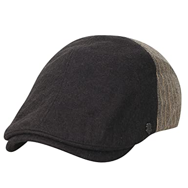 02d9909de58 ililily Wool-Blend Half Striped Gatsby Newsboy Hat Cabbie Hunting Flat Cap
