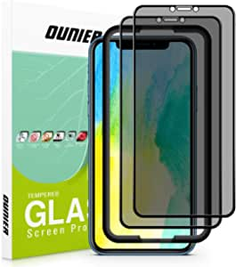 """OUNIER for iPhone 11/iPhone XR 28°True Privacy Screen Protector, [2-Pack] [Easy Frame] [Full Coverage] Anti-Spy Tempered Glass Screen Protector Compatible with Apple iPhone XR & iPhone 11 [6.1""""]"""