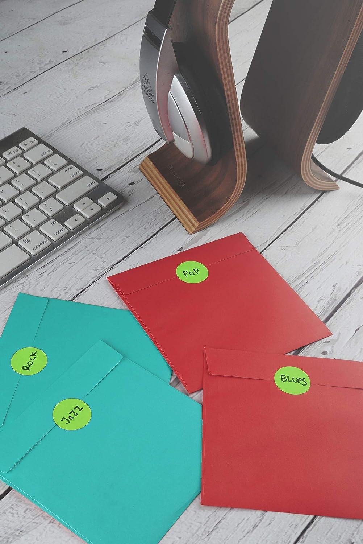 Colore Rosso Royal Green Bollini Adesivi Rotondi 25 mm In Rotolo Confezione da 600 Pezzi