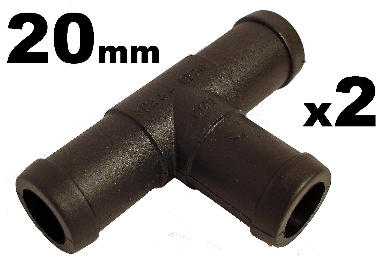 Schlauchverbinder Kunststoff T-Stü ck x2 - Auß endurchmesser 20mm- Fü r Schlä uchen