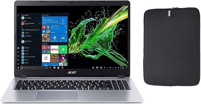 Acer Aspire 5 A515 Series Slim 15.6 Inch Full HD IPS Thin and Light Laptop, AMD Ryzen 3 3200U 2.6Ghz Processor, 12GB RAM, 128GB SSD Boot + 1TB HDD, Backlit Keyboard, Woov Sleeve, WiFi, Windows 10