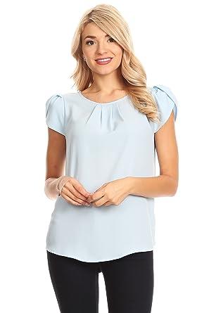 Via Jays Basic Casual Simple Short Sleeve Blouse Top At Amazon