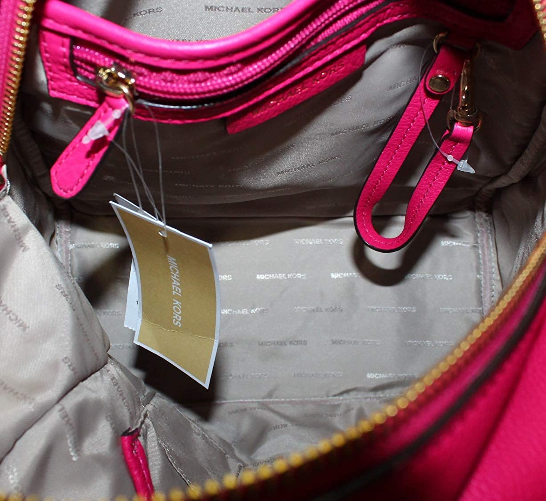 f8c604fd44b988 MICHAEL Michael Kors Rhea Medium Leather Backpack in Ultra Pink: Amazon.co. uk: Shoes & Bags
