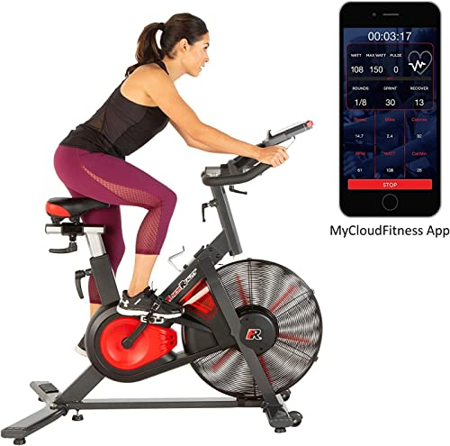 Fitness Reality X-Class 9000 Bluetooth Air Resistance HIIT Indoor Cycling Exercise Bike