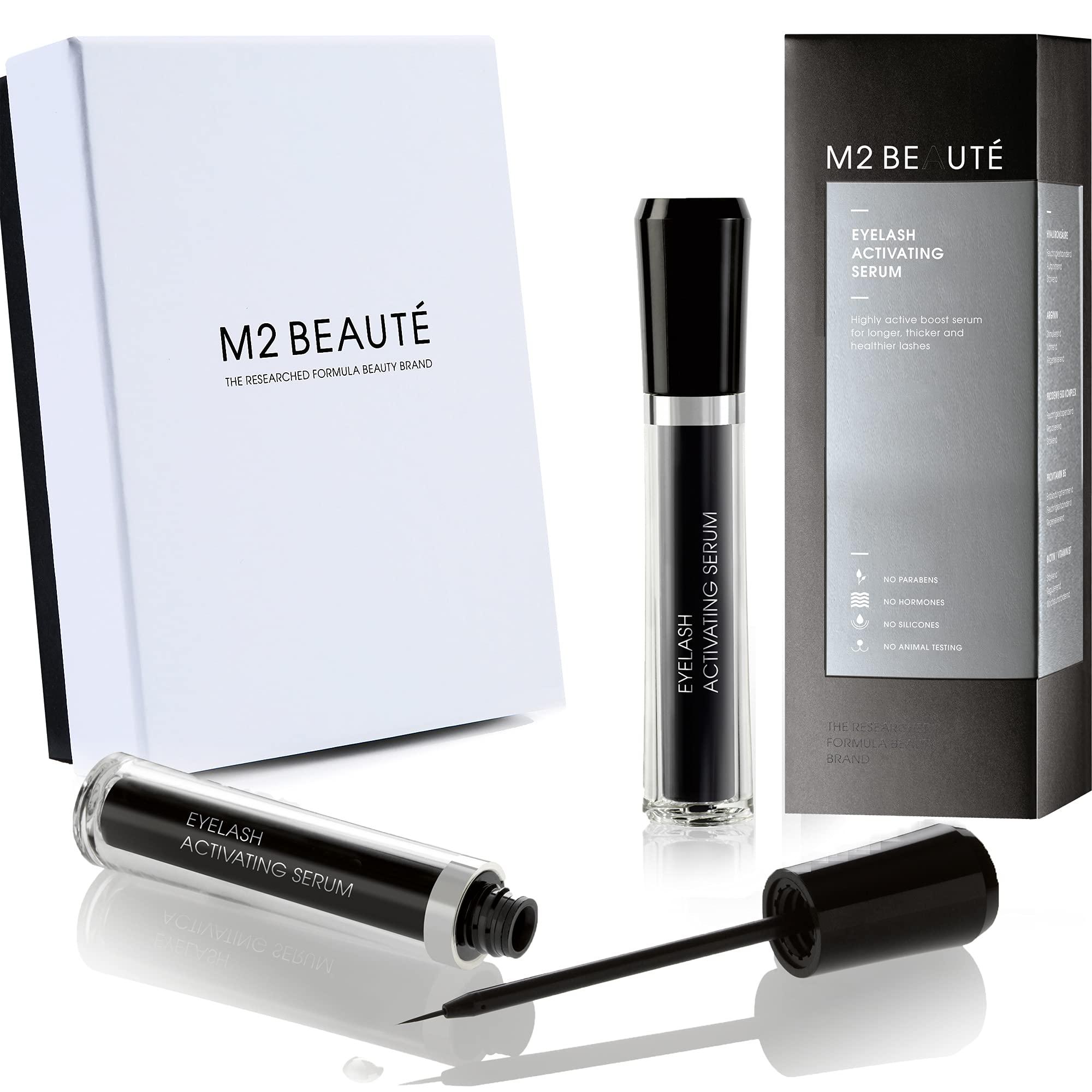 M2 BEAUTE Eyelash Activating Serum & M2Beaute Gift Box | Dermatologist Tested Product ,Highest German Quality Professional Eyelash Serum for Growing Natural Lashes