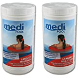 mediPOOL 507601MP Langzeit MultiTabs 200g, 2 x 1KG, Chlor Multifunktionstabletten