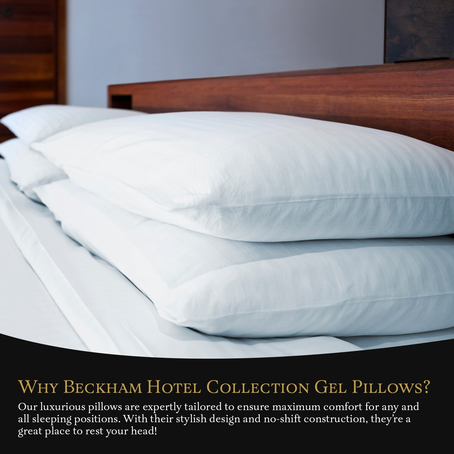 (2-Pack) - Luxury Plush Gel Pillow - Dust Mite Resistant & Hypoallergenic - Queen