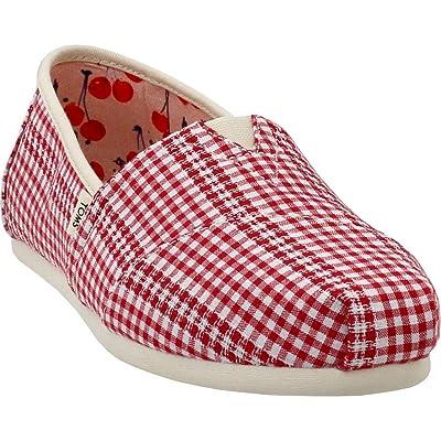 TOMS Alpargata Cherry Tomato Gingham Stripe 8   Loafers & Slip-Ons