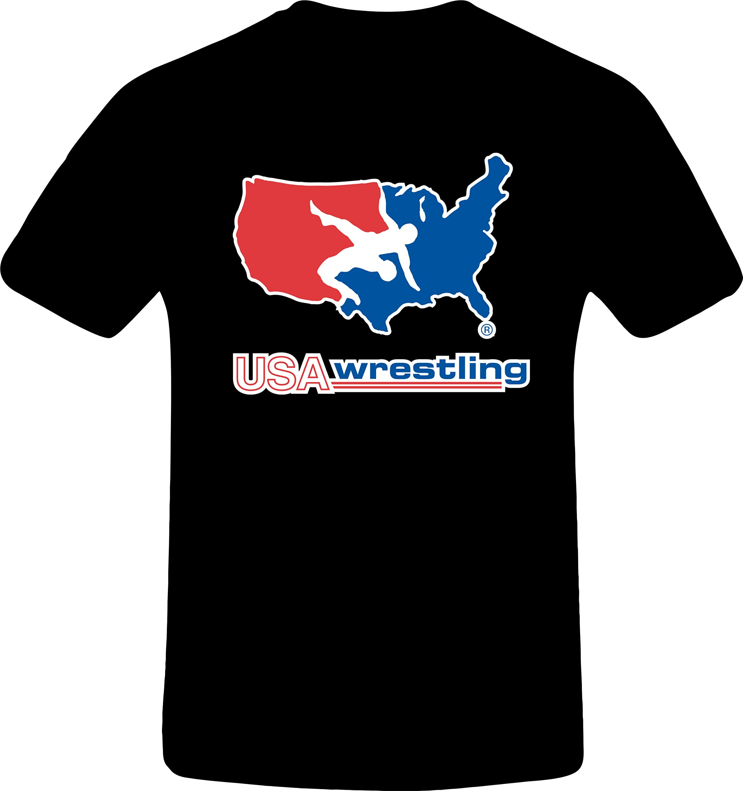 USA Wrestling, Best Quality Costum Tshirt (5XL, BLACK)