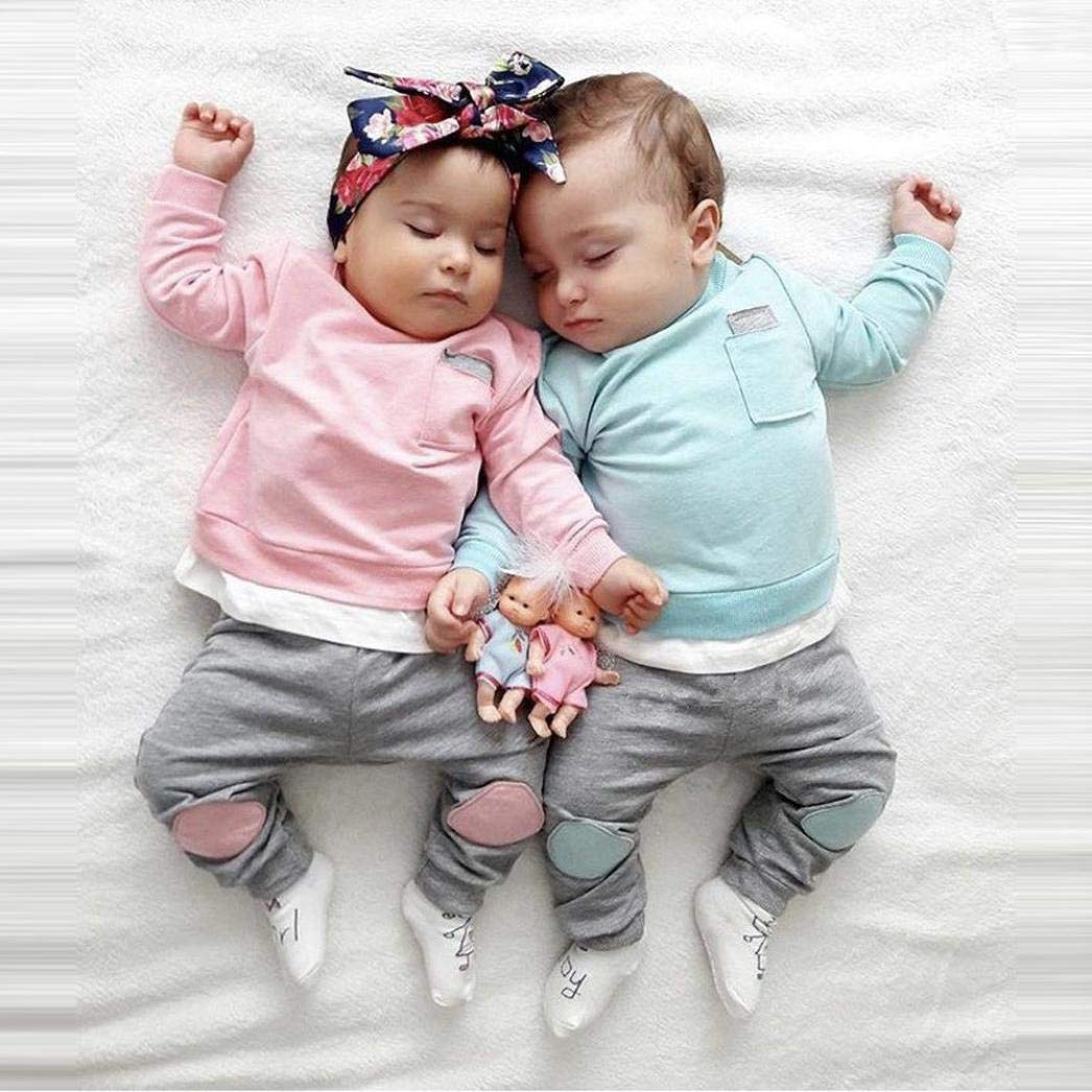 Hosen 2 ST/ÜCKE Kleidung Set 3-24Monate Herbst Neugeborenes Outfit Set LianMengMVP Baby Kleidung Jungen M/ädchen T-Shirt Tops