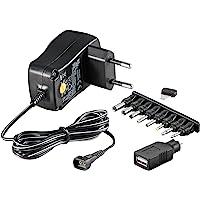 Universal Netzteil 600mA 3V / 4,5V / 5V / 6V / 7,5V / 9V / 12V inkl. 8 Adapterstecker plus USB