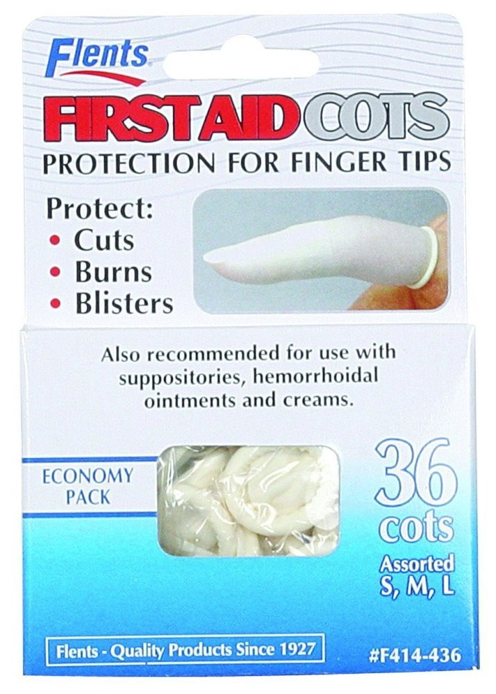 Flents Finger Cots Latex Assorted 36 Count (5 Pack)