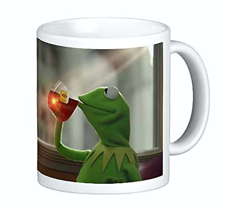 71oT8Uw0rZL._SX466_ amazon com kermit sipping tea coffee ceramic mug 15 oz thats none