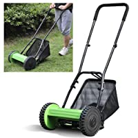Popamazing Hand Power Garden Manual Lawnmower