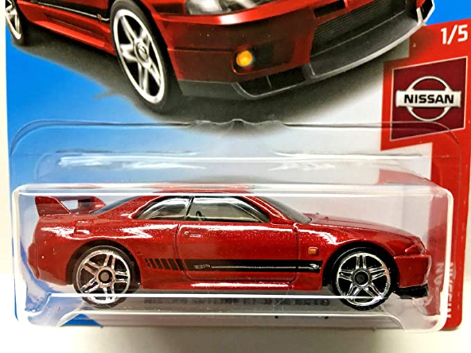 Amazon.com: Hot Wheels 2019 Nissan Nissan Skyline GT-R (BCNR33) 6/250, Maroon: Toys & Games