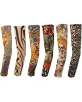 SUMERSHA Temporäre Gefälschte-Slip Tattoo Sleeves Arm Strümpfe (6 Stück)