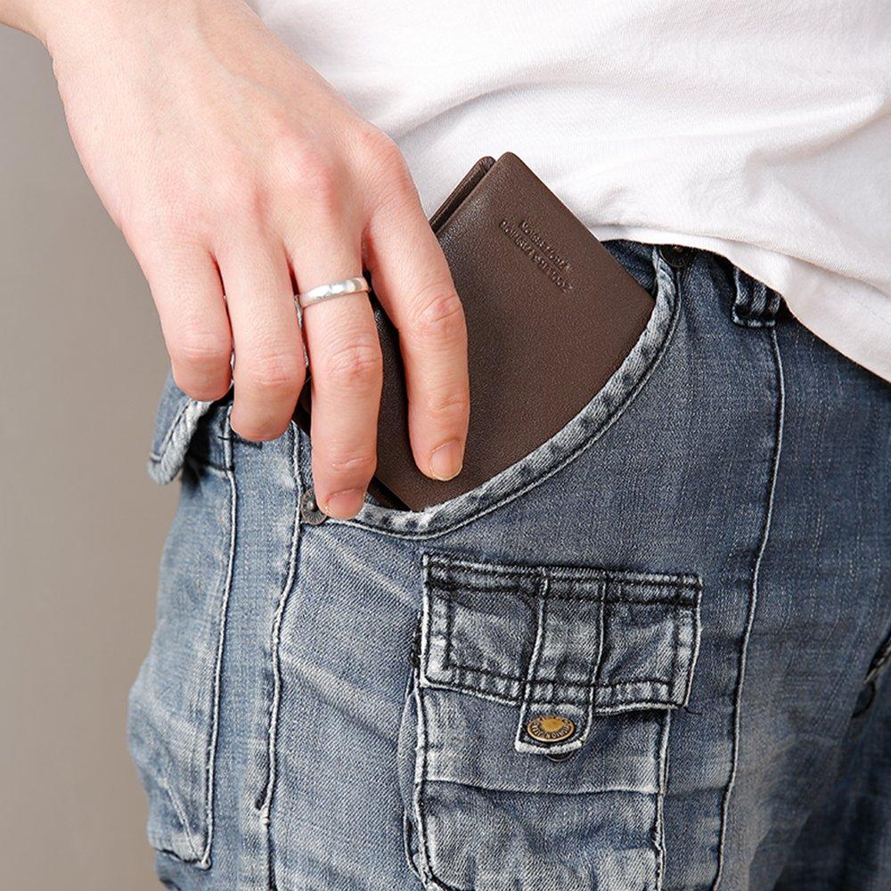 ZOOLER GLOBAL Mens Vintage Cowhide Leather Wallet Short Wallets Fashion Card Holder