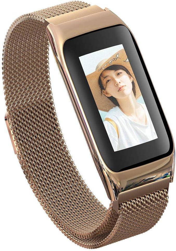 MTSBW Rastreador de Salud de Reloj Inteligente con Pantalla de Color Grande HR GPS Bluetooth calorías Contador de monitoreo del sueño podómetro equitación Corriendo, para Hombres y Mujeres