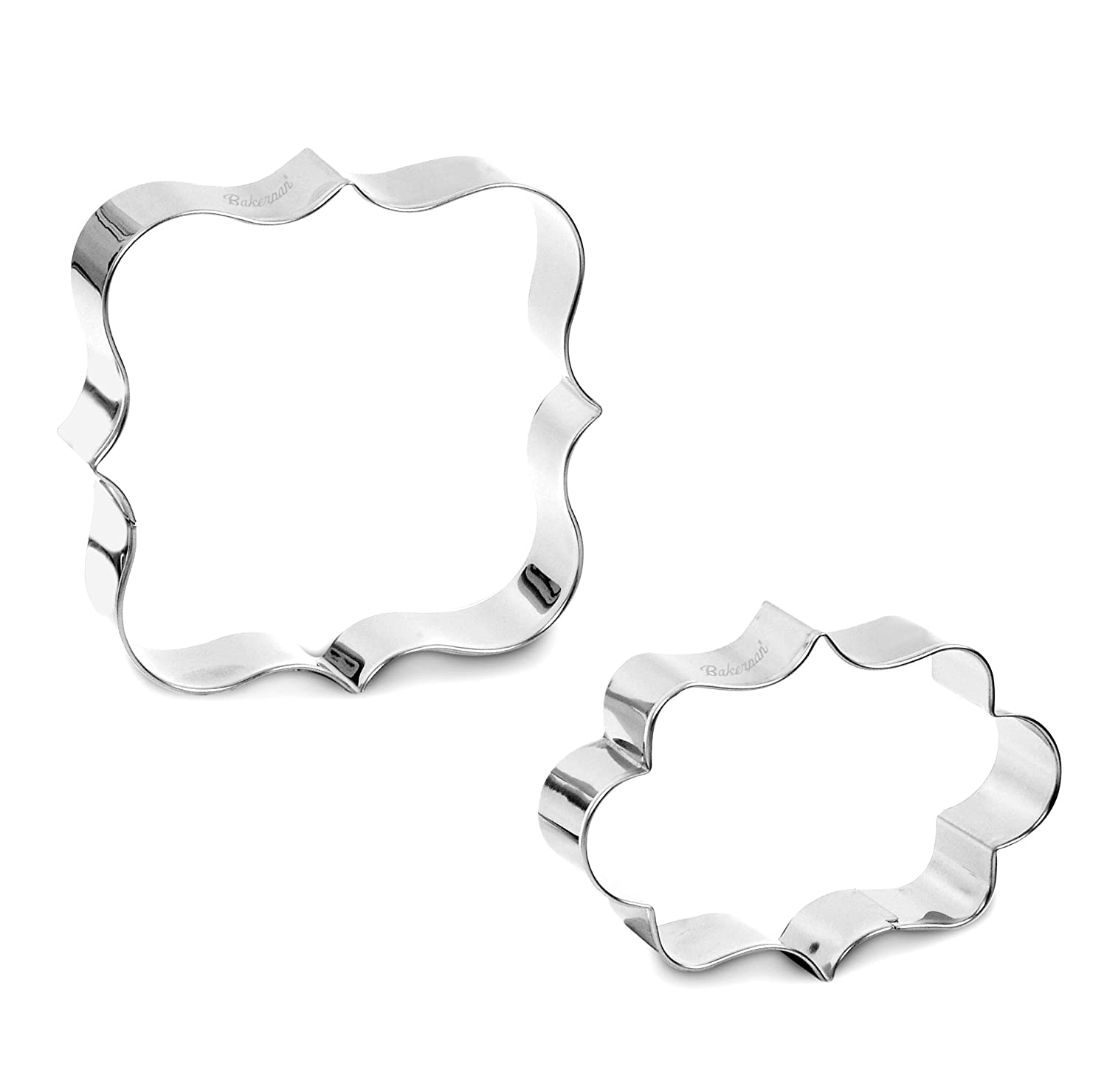 Bakerpan Stainless Steel Cookie Cutter Plaques II Set of 2