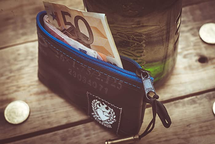 BIKETUBE COIN PURSE Blue + ASAP Dispatch: Amazon co uk: Handmade