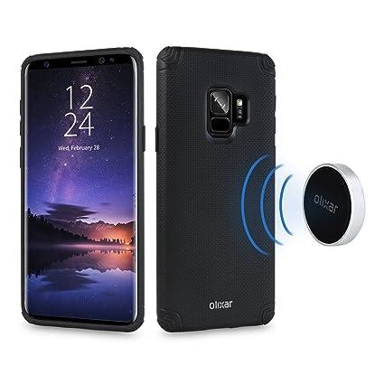77ef617cb644fc Amazon.com  Olixar Samsung Galaxy S9 Magnetic Case – Magnetic Mounts ...