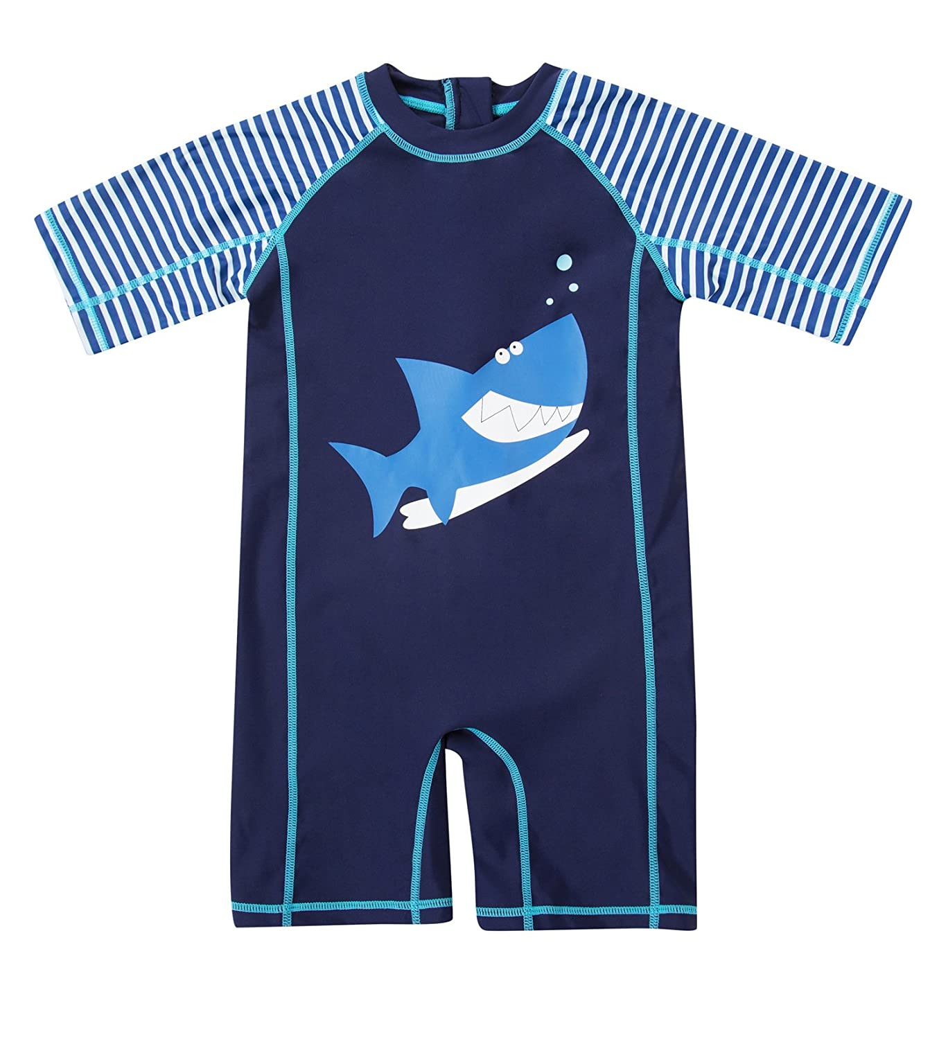 ATTRACO Baby Girls Boys Zip Rash Vest UV One Piece Rash Guard Swimwear UPF 50+