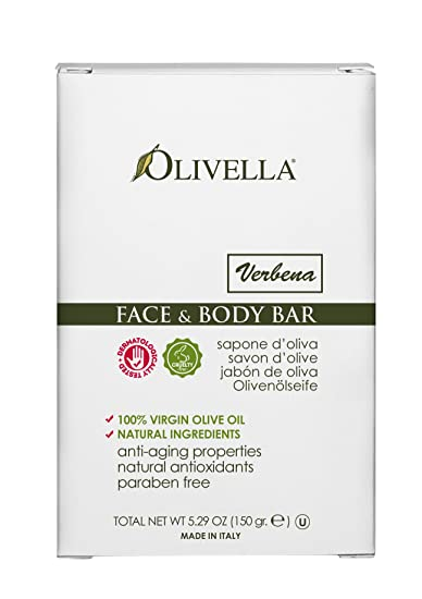 Olivella Face and Body Bar, Verbena, 5.29 Ounce