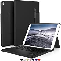 IVSO Apple iPad Pro 10.5 Funda con teclado Ultra-Thin DESMONTABLE Bluetooth Funda de teclado / Funda + Portalápices para Apple iPad Pro 10.5 pulgadas 2017 Versión Tablet (Negro)
