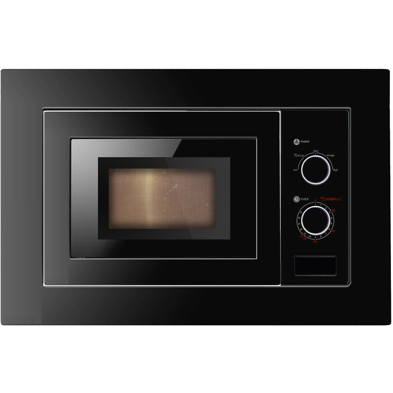 Cookology IM17LBK Built-in Microwave in Black | Integrated Frame Trim Kit