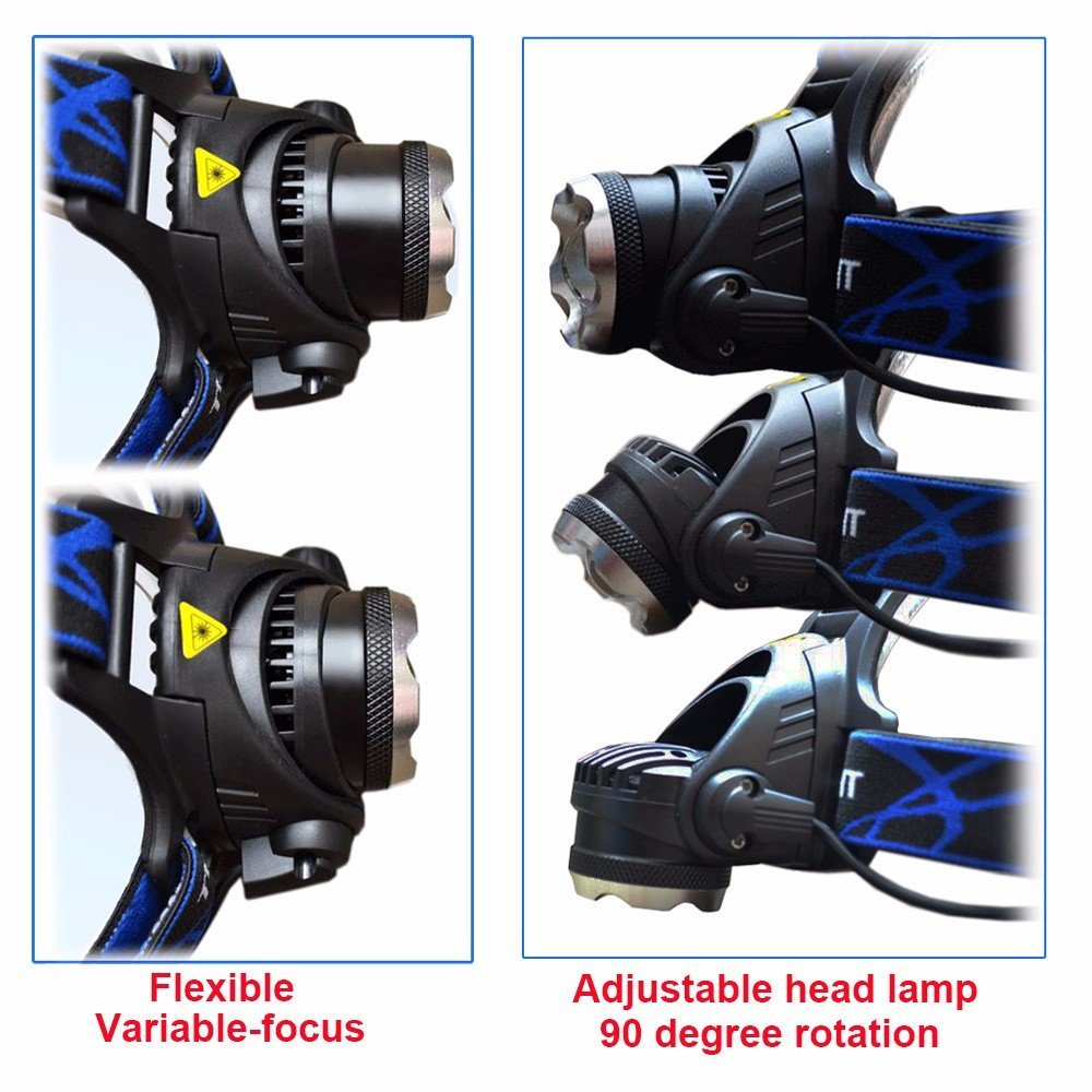 MDL Discovery Headlamp Cree XPE Rechargeable and Compact High Zoom LED Genuine 720 Lumens Output with 3 Lighting Modes for Reading, Running, Camping, Cycling or Hiking by MDL Led Lighting (Image #6)