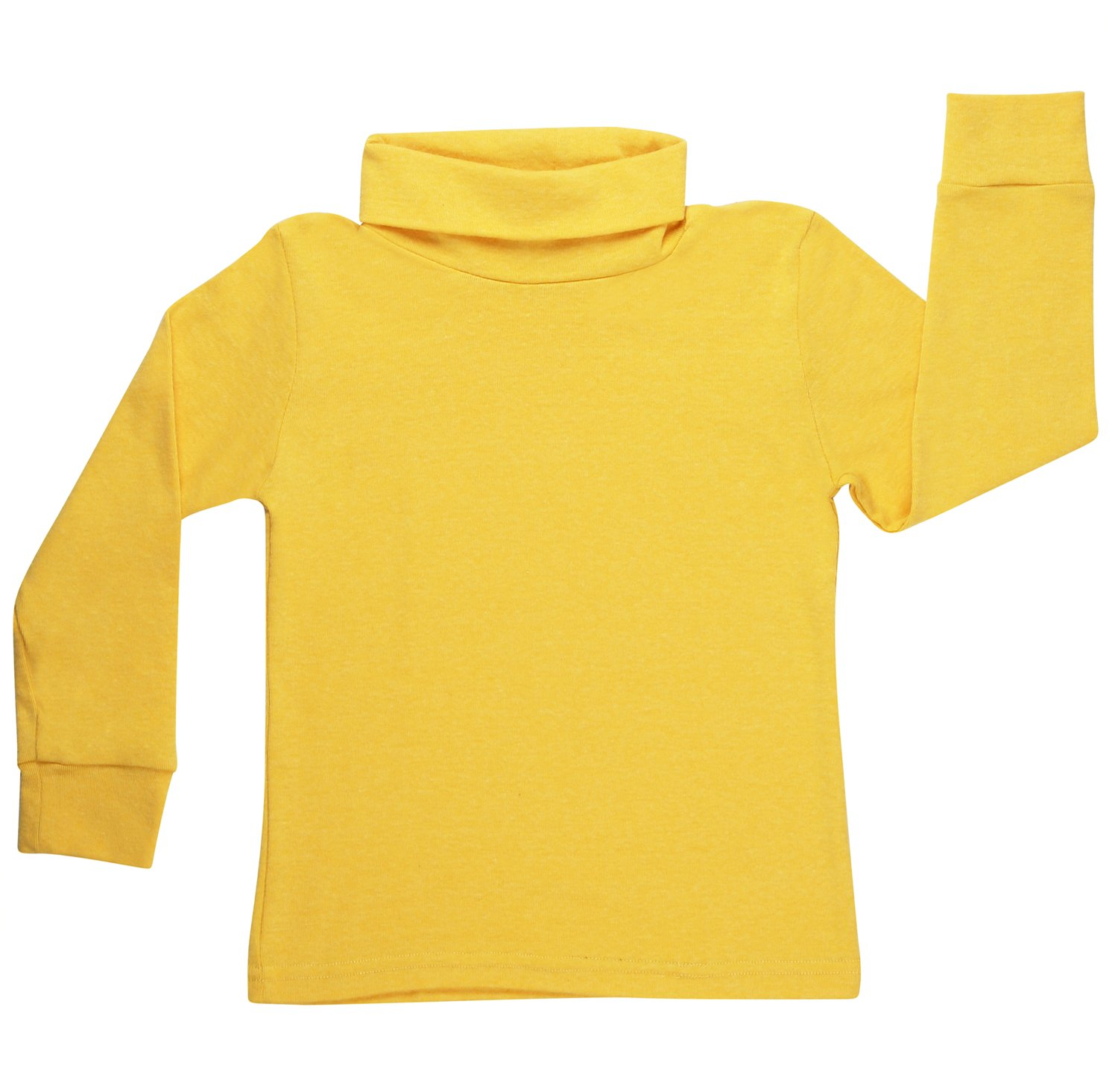 high5 solid Color Turtleneck 100% Cotton Size 8 Yellow