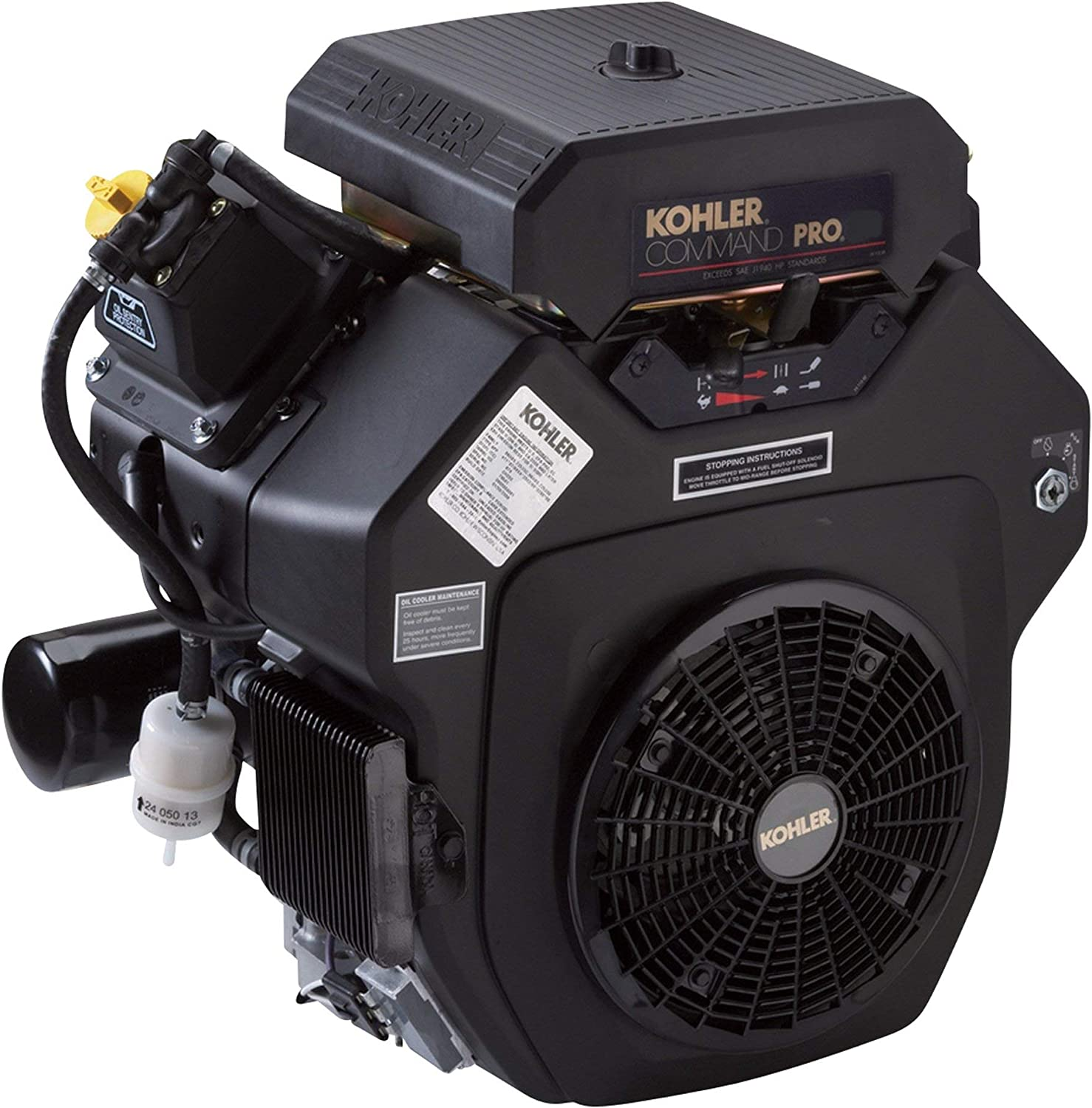 Kohler Command Pro V-Twin OHV Horizontal Engine with Electric Start - 725cc, 1 7/16in. x 4 29/64in. Shaft, Model Number PA-CH740-3005