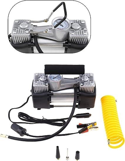 Mini compresseur d/'air portable 150PSI Kit de gonflage de pneus de voiture 12V